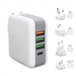 multi usb port charger 4 usb ac adapter