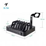 Portable mobile phone charger 6 usb port charging stand power dock station