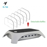 60W 5 Port dock station Multi Device USB Charging Docking Station desktop charger 5V 12A